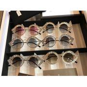 gucci眼鏡專賣店 古馳2017年新款 0046桃形鏡架時尚墨鏡