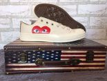 CDG PLAY x Converse 1970s 2018新款 聯名款帆布低幫情侶休閒鞋 米白色