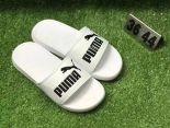 puma popcap swan 蕾哈娜同款沙灘拖鞋 夏季時尚情侶款一字拖 白黑色