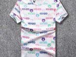 kenzo短t 2018夏季新款 彩色字母虎頭圓領男生短袖T恤 白色