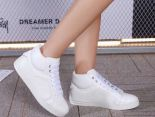 Chanel 板鞋 2017新款 香奈兒壓花皮質休閒女生板鞋 白色