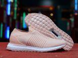 adidas Ultra Boost Laceless 2018新款 無鞋帶針織女生襪子慢跑鞋 粉色