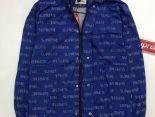 supreme衣服 2017新款 字母印花時尚休閒男生休閒風衣外套 藍色