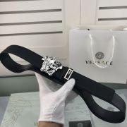 versace皮帶專櫃 範思哲2018新款 HF70牛皮美人頭鋼扣時尚腰帶