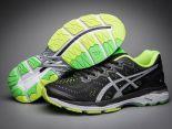 asics慢跑鞋 紐約馬拉松紀念版 亞瑟士緩震時尚男鞋 黑綠色