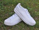 adidas originals superstar primeknit bounce編織貝殼頭系列 三葉草時尚情侶板鞋 白色