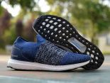adidas Ultra Boost Laceless 2018新款 無鞋帶針織情侶襪子慢跑鞋 藍色