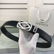 versace皮帶專櫃 範思哲2018新款 HF9牛皮鴕鳥紋鋼扣時尚腰帶