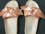 fenty bandana slide x puma緞帶鞋 蕾哈娜絲綢蝴蝶結時尚女生宮廷風拖鞋 粉色