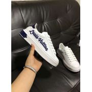louis vuitton鞋 路易威登2018新款 A515180牛皮休閒女鞋 白藍
