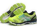ASICS GEL-NIMBUS 17代 網面時尚透氣男生跑步鞋 黃黑