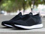 adidas Ultra Boost Laceless 2018新款 無鞋帶針織情侶襪子慢跑鞋 黑白