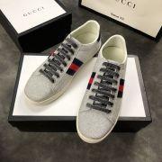 gucci鞋 古馳2018新款休閒鞋 190牛皮時尚情侶鞋 灰色