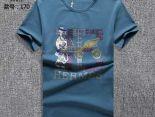 hermes 衣服 2018夏季新款 大字母圓領男生短袖T恤 藍色