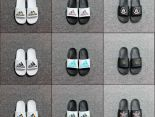 adidas拖鞋 2019新款 簡約經典款男女生休閒拖鞋 多色可選3