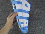nike air more uptempo pippen 皮蓬大AIR字母 全氣墊情侶款籃球鞋 藍白色