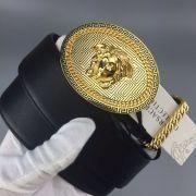 versace皮帶 範思哲2018新款 ZJ徽章人頭圓扣時尚腰帶