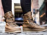 nike special field air force 1 空軍一號高幫透氣時尚情侶款休閒鞋 棕色