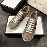 gucci鞋 古馳2018新款休閒鞋 190牛皮時尚情侶鞋 啡色