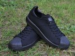 adidas originals superstar primeknit bounce編織貝殼頭系列 三葉草時尚情侶板鞋 黑色