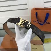 lv皮帶目錄 路易威登2018新款 HF32老花格紋時尚鋼扣腰帶