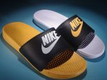 nike sb benassi solarsoft slide 權志龍同款 夏季沙灘一字拖情侶鞋 鴛鴦黃白色