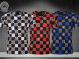 versace t恤 2018新款 格子男生休閒圓領短袖T恤 MG204款