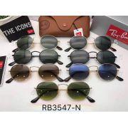 ray ban眼鏡 雷朋2017年4月新款墨鏡 RB3547圓框時尚偏光太陽眼鏡