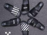 Off-White 2019新款 條紋字母情侶款拖鞋