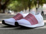 adidas Ultra Boost Laceless 2018新款 無鞋帶針織情侶襪子慢跑鞋 白紅