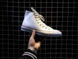 Converse匡威 2018新款 經典款皮面休閒情侶板鞋 高幫白色