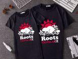 roots 2019新款短T 情侶款圓領短袖T恤 黑色 PF