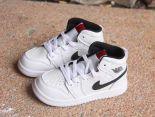 jordan1代 2018新款 軟皮休閒運動童鞋 白黑