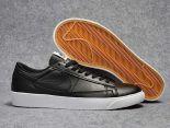 Nike Blazer Low 2018新款 新一代開拓者皮質情侶休閒板鞋 黑色