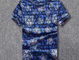 kenzo短t 2018夏季新款 虎頭圓領男生短袖T恤 藍色